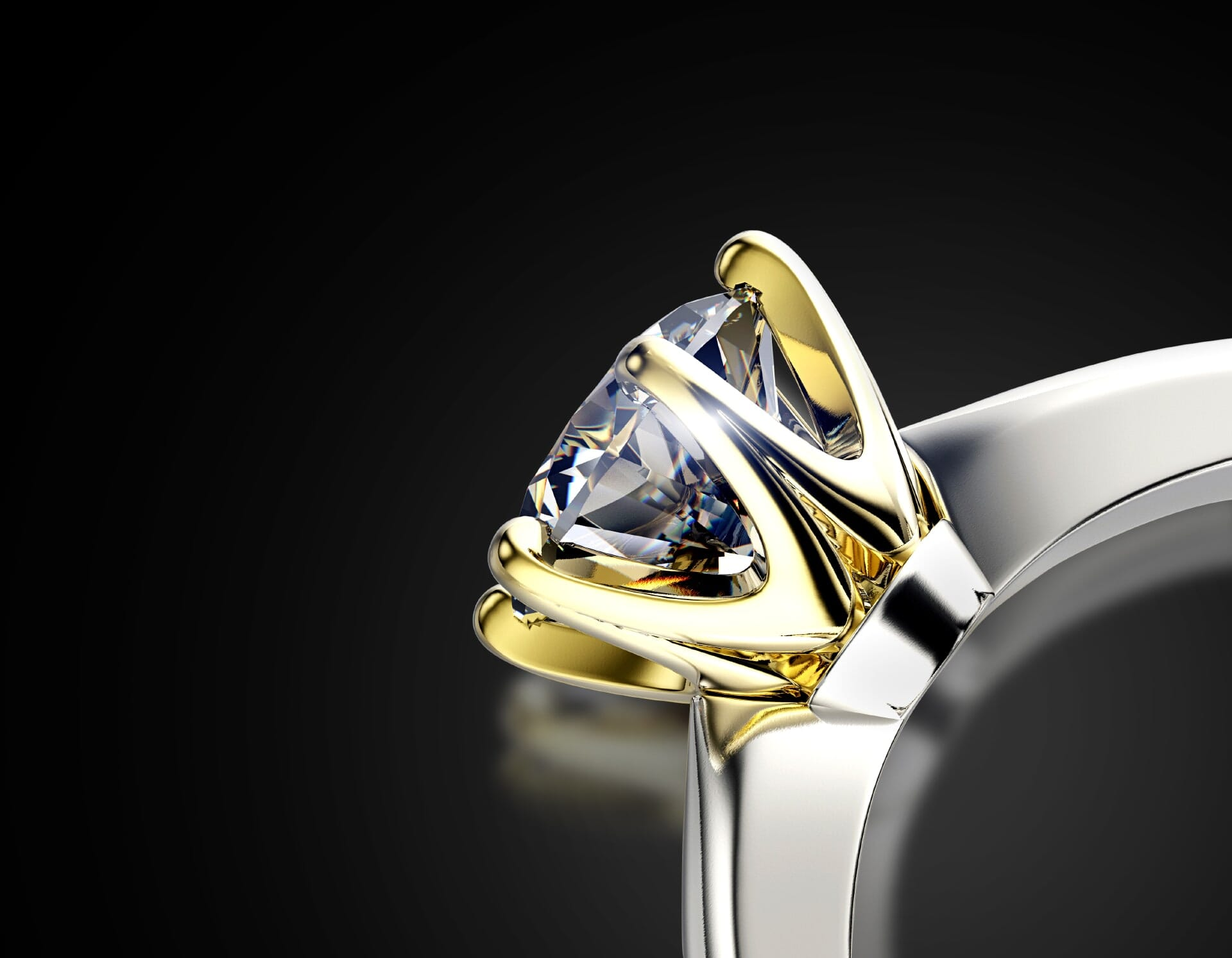 Jewelry image retouching: how to retouch the back shanks of the ring