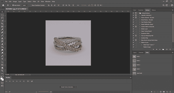 Photoshop pathing your piece