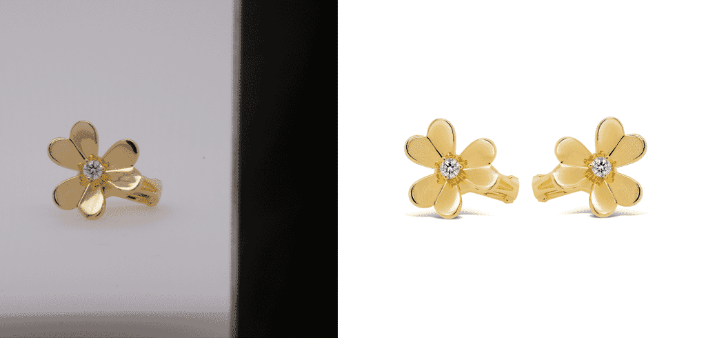 Clipping onto white background