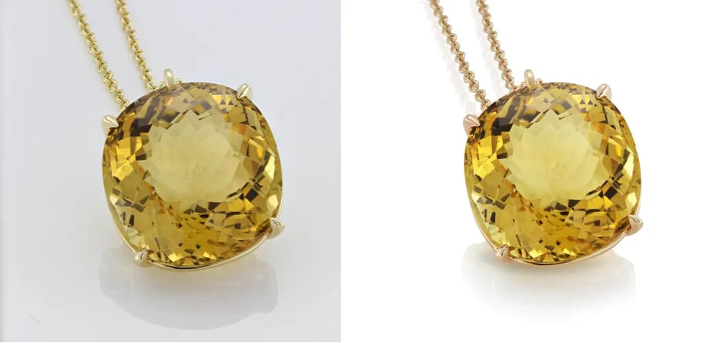 before and after jewelry image