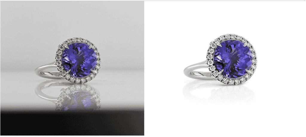 jewelry photo retouching - removal of scratch and dust