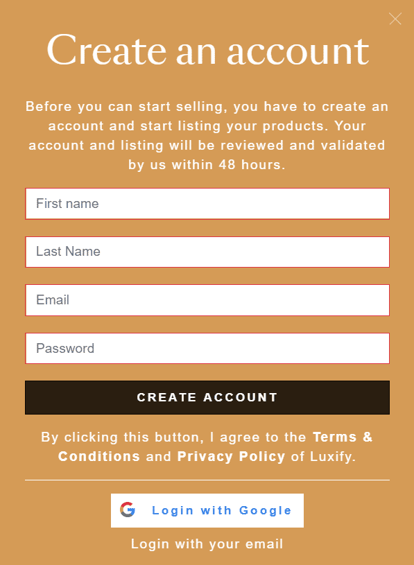 How to sell on Luxify