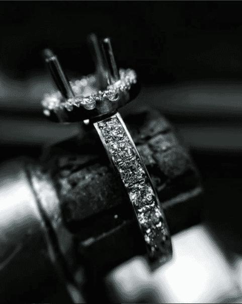 jewelry-making process shot