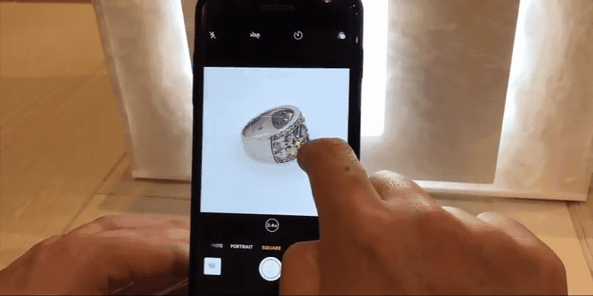 Take better jewelry photos with your smartphones using the camera grid