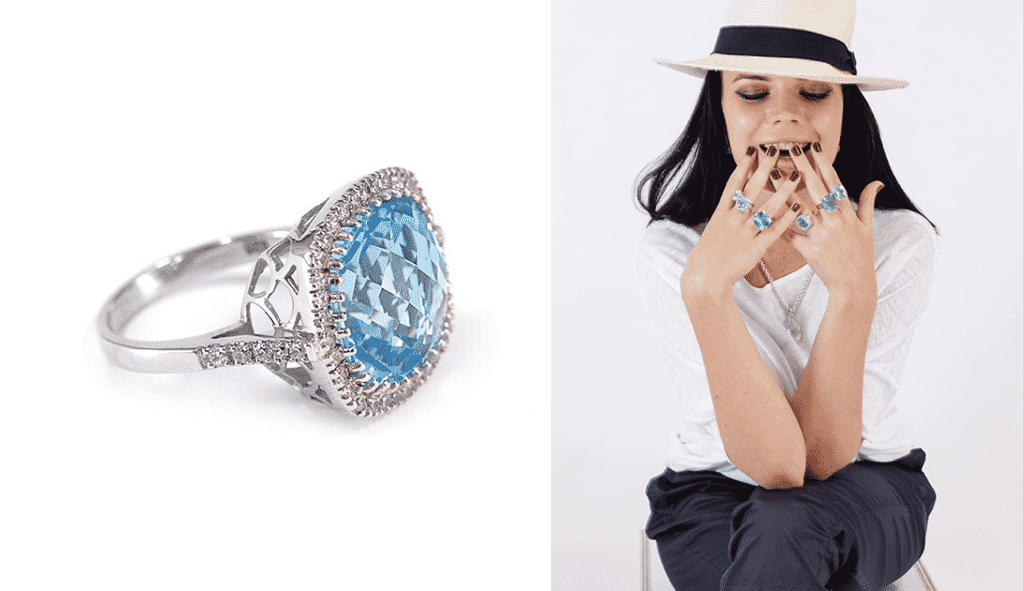 white background jewelry photography vs lifestyle