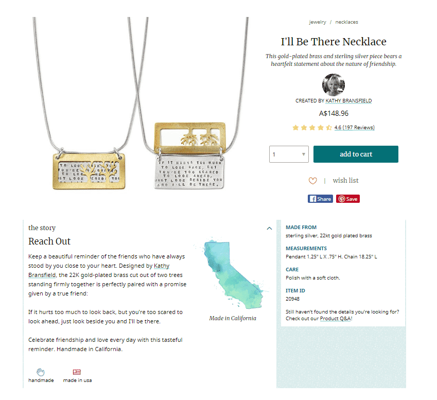 Humanize your product with creative jewelry product descriptions