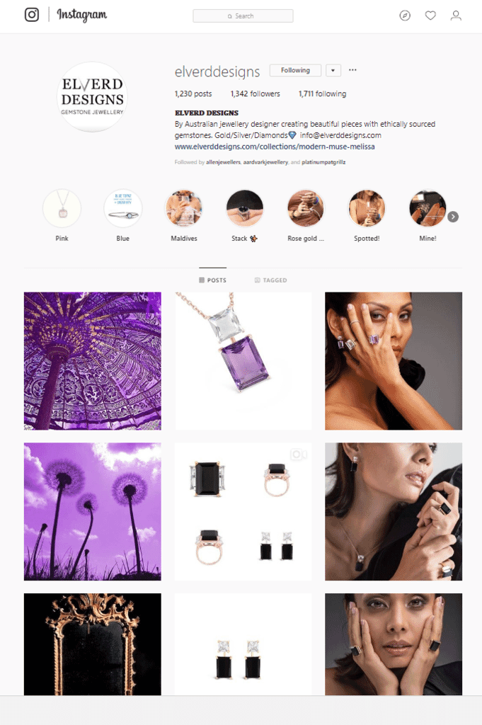 use feature shots on your jewelry website