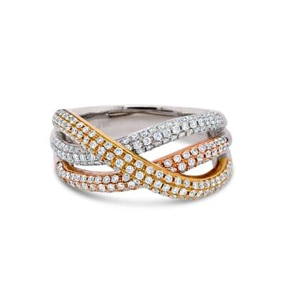 Retuschierte DSLR | Dreifarbiger Diamantring