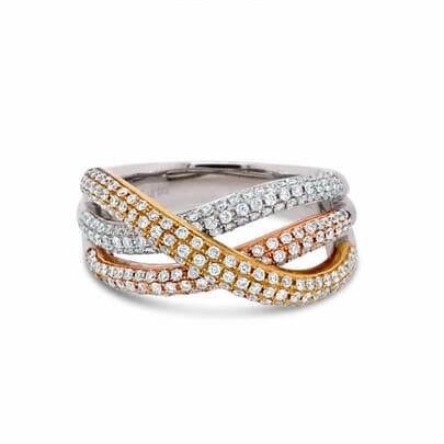 Retouched DSLR, Tri-tone diamond ring