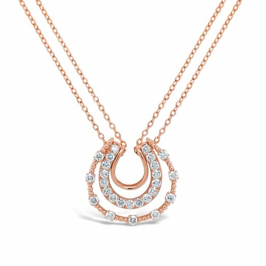 Retouched DSLR   Rose gold diamond chain