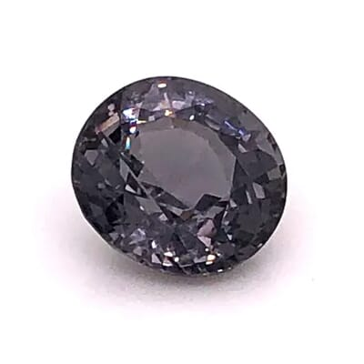 black spinel captured inside the gemlightbox