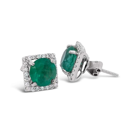 Retouched DSLR   Emerald earrings