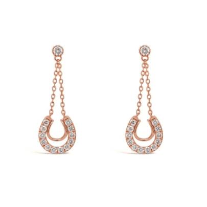 Retouched DSLR, Rose gold diamond earrings